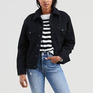 Levi's Ex Boyfriend Trucker Sherpa Denim Jacket